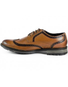 Oxford Hitler Camel Stripes Black