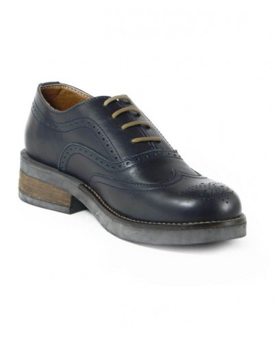 Oxford Wingtip Blue Dark