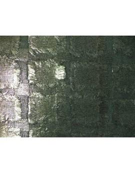 cojin con textura metalizada color estaño